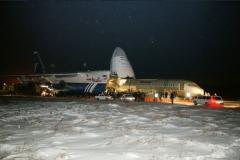 Фото 13. Доставка Ан-124 Руслан самолёта №95002 для статических испытаний в Жуковскй. 28 января 2007 г.