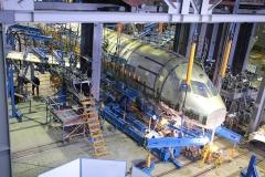 Фото 17. Superjet 100№95002, который с 2007 года находится на статических испытаниях в ЦАГИ. Февраль 2008 г.