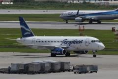 Фото 58. Суперджет 100 авиакомпании Якутия в аэропорту Наха (Японии). 1 июля 2015 г.
