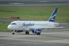 Фото 59. Суперджет 100 авиакомпании Якутия в аэропорту Нарита (Японии). 16 августа 2015 г.