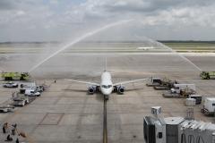 Фото 74. Встреча Sukhoi Superjet 100 в аэропорту Хьюстона (США). 14 мая 2015 г.