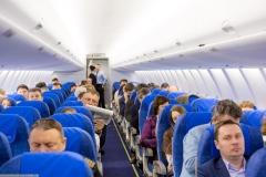 Фото 86. Первый коммерческий рейс (Москва-Советский) Sukhoi Superjet 100-95LR авиакомпании Газпром авиа. 5 марта 2014 г.