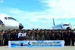 Фото 97. Церемония ввода двух Sukhoi Business Jet в состав 603-й эскадрильи 6-го авиационного крыла Королевских ВВС Таиланда. Дон Мыанг (Бангкок). 31 августа 2016 г.