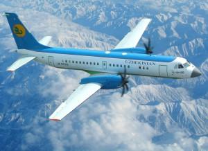 Ил-114-100 узбекской авиакомпании Узбекистон Хаво Йуллари