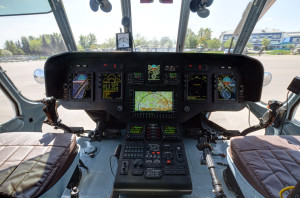 Приборная панель вертолёта Ми-171А2 с комплекса КБО-17
