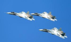 Три опытных образца Т-50