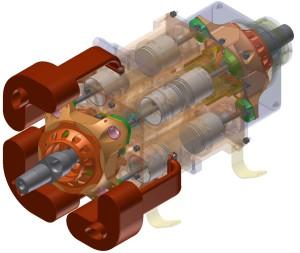 Двухтактный двигатель аксиального типа
