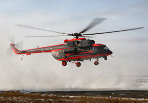 The new type Mil Mi-8AMTSh-VA military helicopter for expluatation in Arctic Zone for Rusian Airforce is at Ulan-Ude Vostochny airport. Russia. (Photo by Fyodor Borisov/Transport-Photo Images)