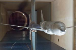 Модель самолета МС-21-200 в аэродинамической трубе