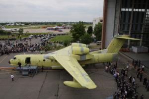 Выкатка первого Бе-200ЧС производства ТАНТК им. Г.М. Бериева