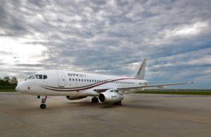 Superjet 100 авиакомпании CityJet