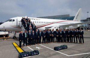 Superjet 100 авиакомпании CityJet и сборная Ирландии по футболу