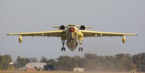 Первый полёт первого Бе-200ЧС таганрогского производства