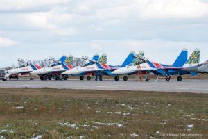 Четыре новых Су-30СМ пилотажной группы Русские Витязи